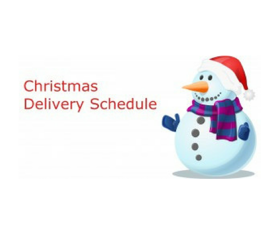Christmas deliveries 2017