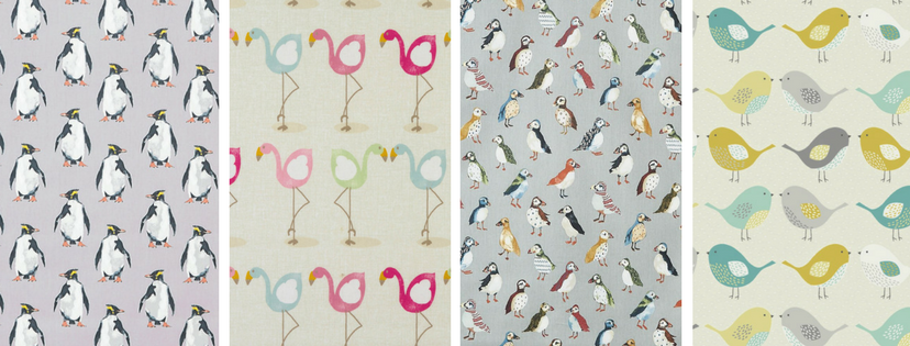 bird themed oilcloths