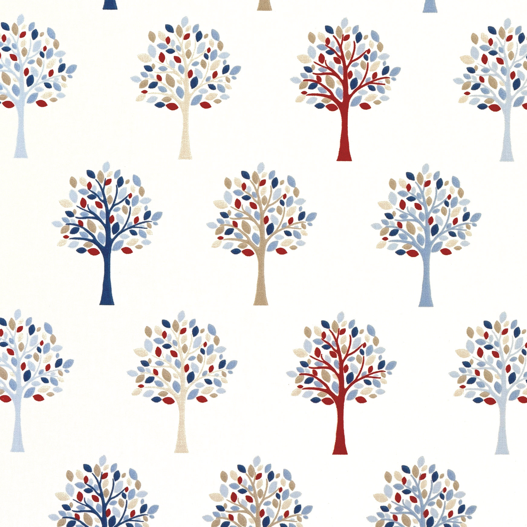 18da7c75b128 Mulberry Tree Blue Gloss Oilcloth - Only Oilcloth