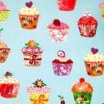 Cupcakes Blueberry Oilcloth