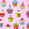 Cupcakes Strawberry Oilcloth