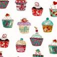 Cupcakes Vanilla Oilcloth