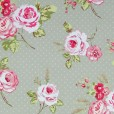 English Rose Sage Oilcloth