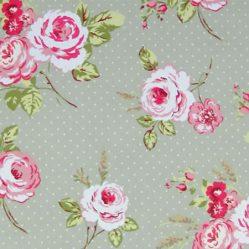 English Rose Sage Oilcloth
