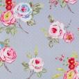 English Rose Steel Grey Matt Oilcloth