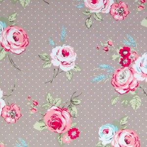 English Rose Taupe Matt Oilcloth