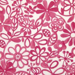 Hazy Days Raspberry Gloss Oilcloth