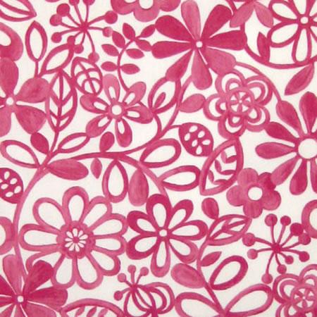 Hazy Days Raspberry Gloss Oilcloth