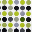 Polka Lime Gloss Oilcloth