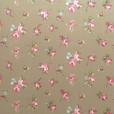 Rosebud Taupe Gloss Oilcloth