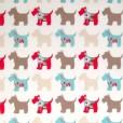 Scottie Dog Gloss Oilcloth