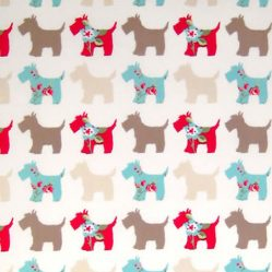 Scottie Dog Gloss Oilcloth