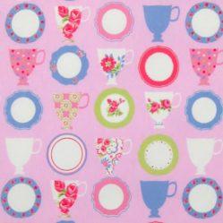 Tea Room Pink Matt Oilcloth