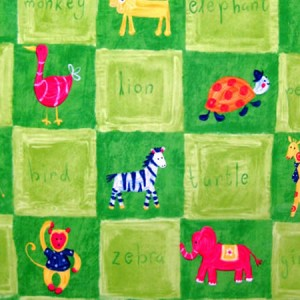 Zoo-b-Doo Lime Gloss Oilcloth