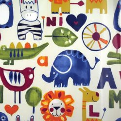 Zoo Escape Gloss Oilcloth