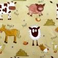 Animal Chatter Caramel Gloss Oilcloth