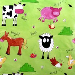 Animal Chatter Meadow Gloss Oilcloth