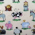 Animal Friends Natural Gloss Oilcloth