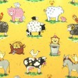 Animal Friends Sand Gloss Oilcloth