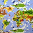 Around the World Gloss Oilcloth