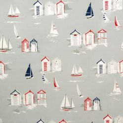 Beach Huts Gloss Oilcloth