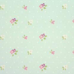 Blossom Duckegg Gloss Oilcloth