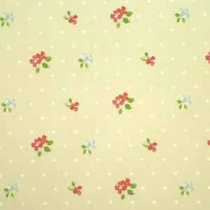 Blossom Taupe Gloss Oilcloth