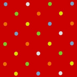 Dot Happy Red Gloss Oilcloth
