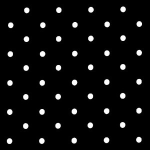 Dotty Black Oilcloth