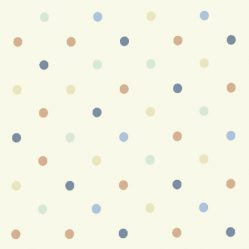 Dotty Cream/Multi Gloss Oilcloth