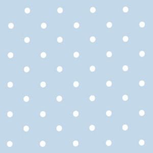Dotty Powder Blue Oilcloth
