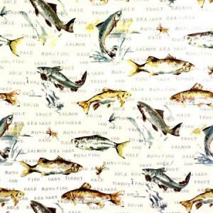 Fish Gloss Oilcloth