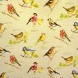 Garden Birds Gloss Oilcloth