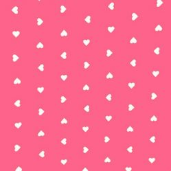 Hearts Pink Oilcloth