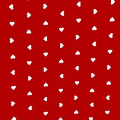 Hearts Red Oilcloth