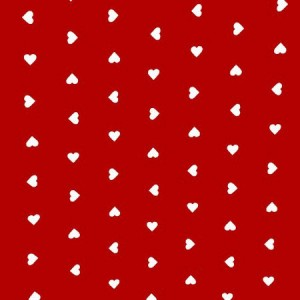 Valentine Hearts Red