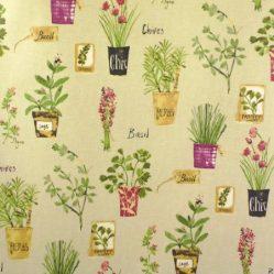 Herb Pots Matt Oilcloth