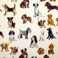 Hot Dog Natural Gloss Oilcloth
