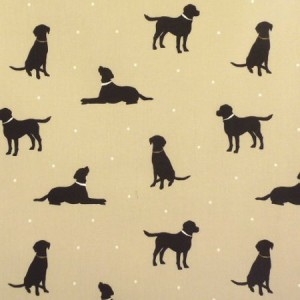 Labrador Taupe Gloss Oilcloth