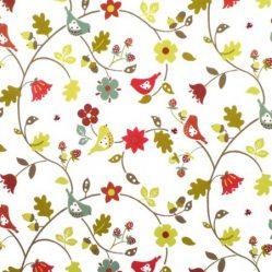 Love Birds Berry Gloss Oilcloth