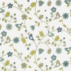 Love Birds Sky Gloss Oilcloth