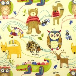 Nature Trail Primary Gloss Oilcloth