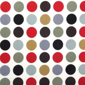 Polka Red Gloss Oilcloth