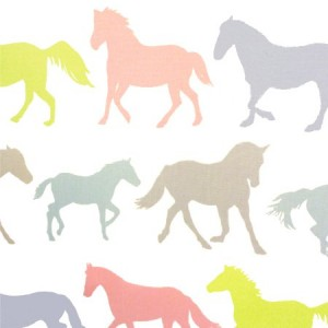 Stampede Pastel Gloss Oilcloth