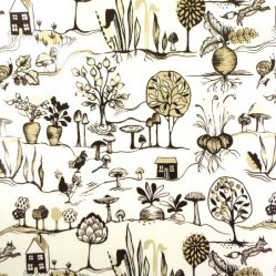 Vegetable Patch Caramel Gloss Oilclothloss Oilcloth