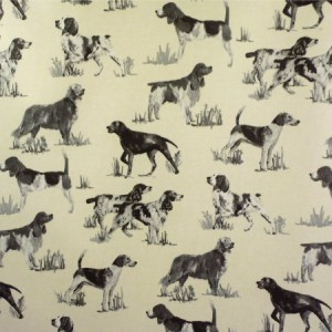 Working Dogs Charcoal Matt Oilcloth