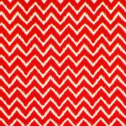 Ziggy Red Gloss Oilcloth